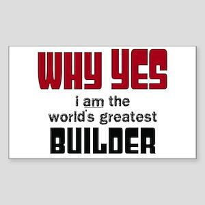 Worlds Greatest Builder Sticker
