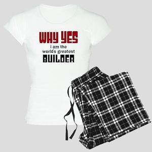 Worlds Greatest Builder Women's Light Pajamas