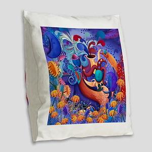 Fantasy Surreal Moon Tarot Cel Burlap Throw Pillow