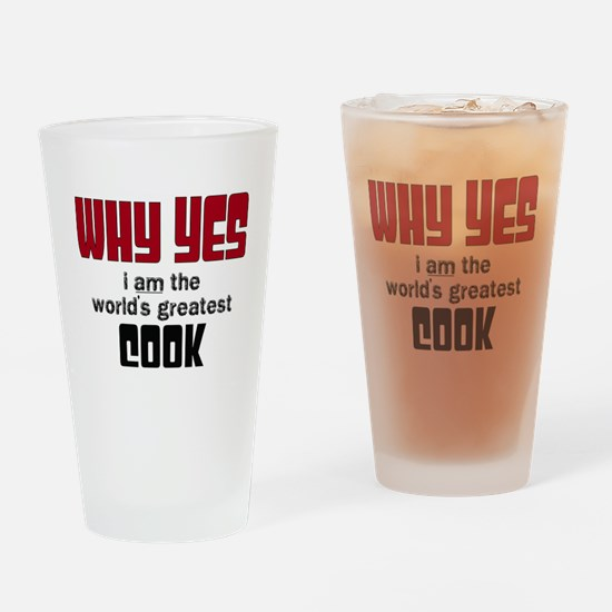 World's Greatest Cook Drinking Glass