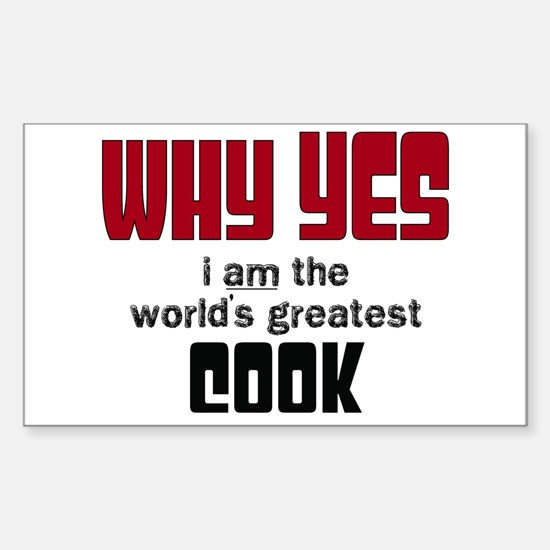 World's Greatest Cook Decal