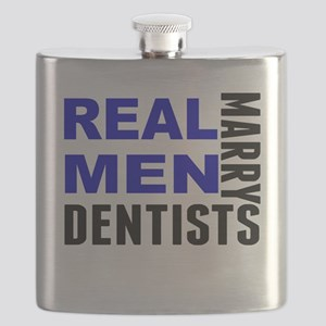 Real Men Marry Dentists Flask
