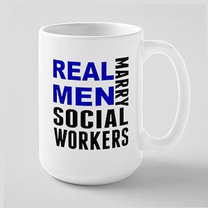 Real Men Marry Social Workers Mugs