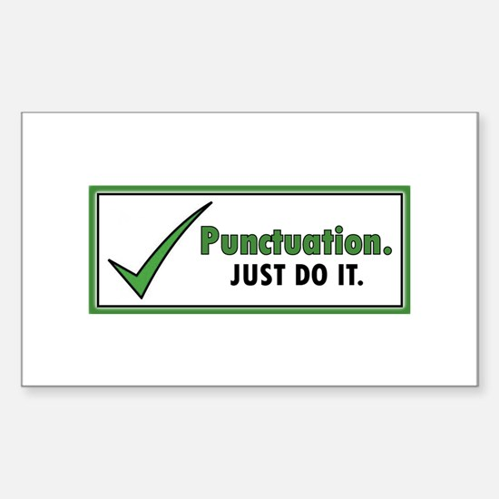 Just Do It – Punctuation Decal