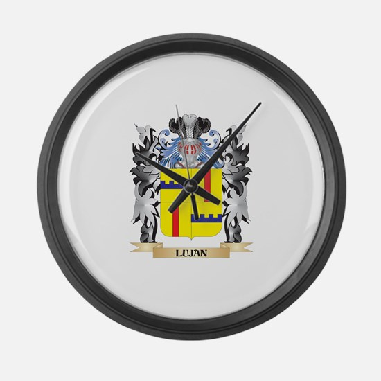 Lujan Coat of Arms - Family Crest Large Wall Clock