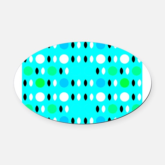 Turquoise Love Max's Fave Oval Car Magnet