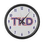 Taekwondo TKD Large Wall Clock