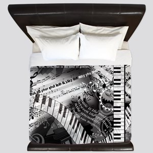 Classical Piano Mozart Music Quotes Art King Duvet
