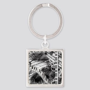 Classical Piano Mozart Music Quotes Art Keychains