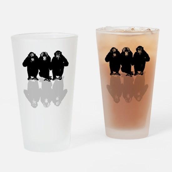 Cute 3 monkey Drinking Glass