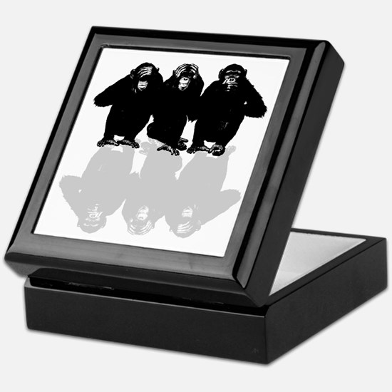 Cute Chimp Keepsake Box