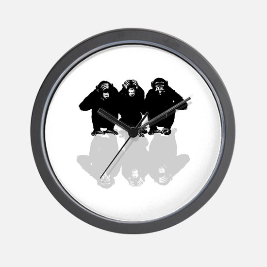 Cute Chimp no evil Wall Clock