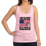 I may no longer wear dog tags.. Racerback Tank Top