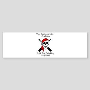 Skull and Crosspaddles Bumper Sticker