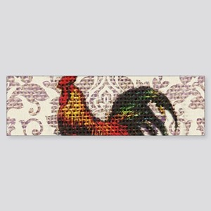 french country vintage rooster Bumper Sticker