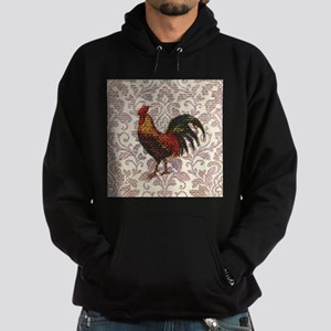 french country vintage rooster Hoodie (dark)