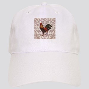 french country vintage rooster Cap