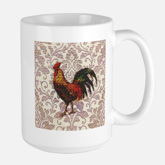 french country vintage rooster Mugs