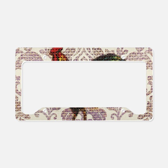 french country vintage rooste License Plate Holder