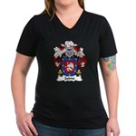 Jaime Family Crest Women's V-Neck Dark T-Shirt