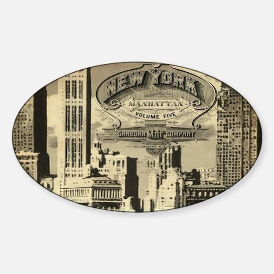 Vintage USA New York Decal
