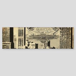 Vintage USA New York Bumper Sticker