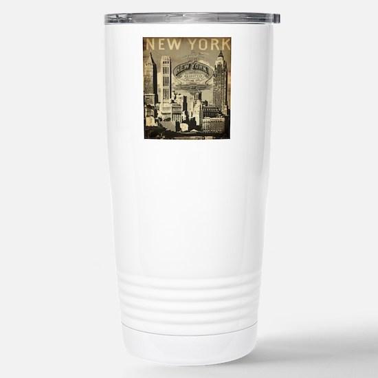 Vintage USA New York Stainless Steel Travel Mug