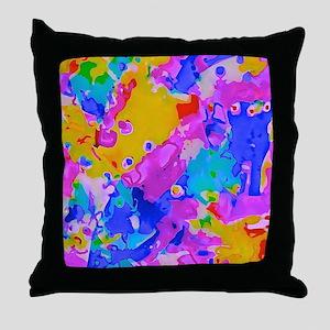 Crazy Cool Colors Throw Pillow