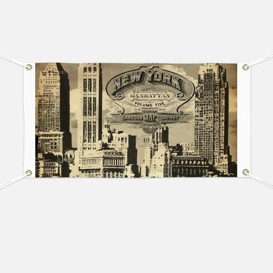 Vintage USA New York Banner