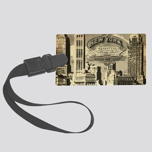 Vintage USA New York Large Luggage Tag