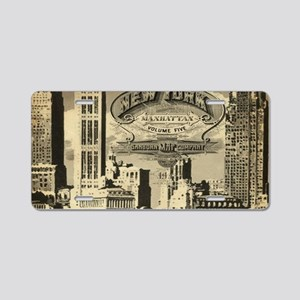 Vintage USA New York Aluminum License Plate