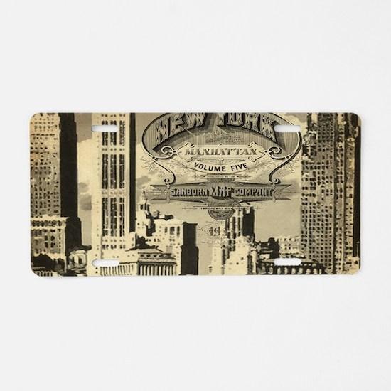 Vintage USA New York Aluminum License Plate