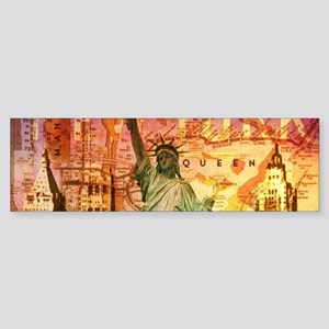 cool statue of liberty Bumper Sticker