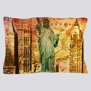 cool statue of liberty Pillow Case