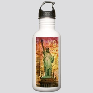 New York Statue of Lib Stainless Water Bottle 1.0L