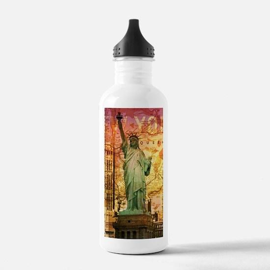 New York Statue of Lib Water Bottle