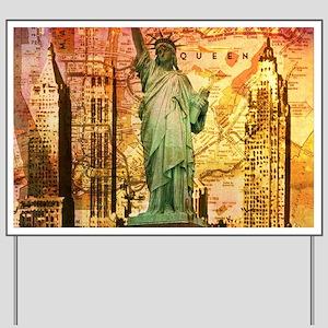 New York Statue of Liberty Yard Sign