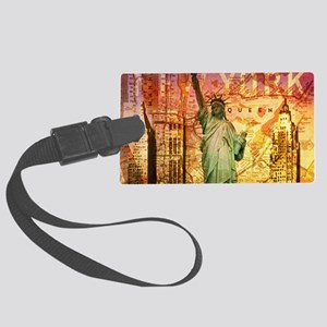 New York Statue of Liberty Large Luggage Tag