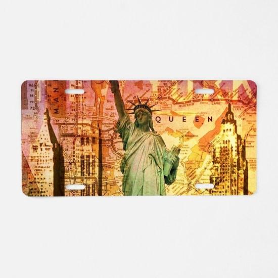 New York Statue of Liberty Aluminum License Plate