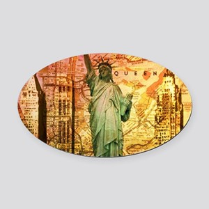 New York Statue of Liberty Oval Car Magnet