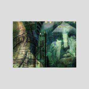 Statue of Liberty new york 5'x7'Area Rug