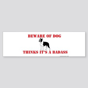 Beware Of Dog Bumper Sticker