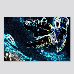 grunge cool motorcycle ra Postcards (Package of 8)