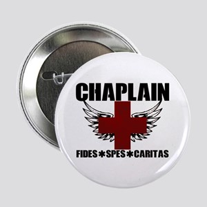 """Winged Cross Chaplain 2.25"""" Button"""