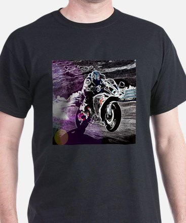 grunge cool motorcycle racer T-Shirt