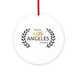 LA CineFest Winner Round Ornament