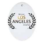 LA CineFest Winner Oval Ornament