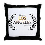 LA CineFest Winner Throw Pillow