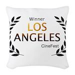 LA CineFest Winner Woven Throw Pillow