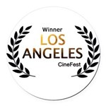 LA CineFest Winner Round Car Magnet